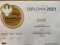 Médaille d'Or au Concours International des Vins à Francfort