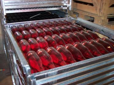 Stockage des bouteilles après tirage en TSR