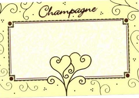 Etiquette stylisée - Mariage - REF M2