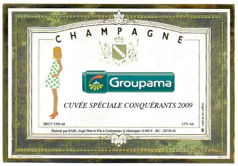 Etiquette de champagne avec logo entreprise